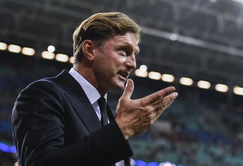 El entrenador Ralph Hasenhüttl durante su etapa como técnico del Leipzig. EFE/Archivo