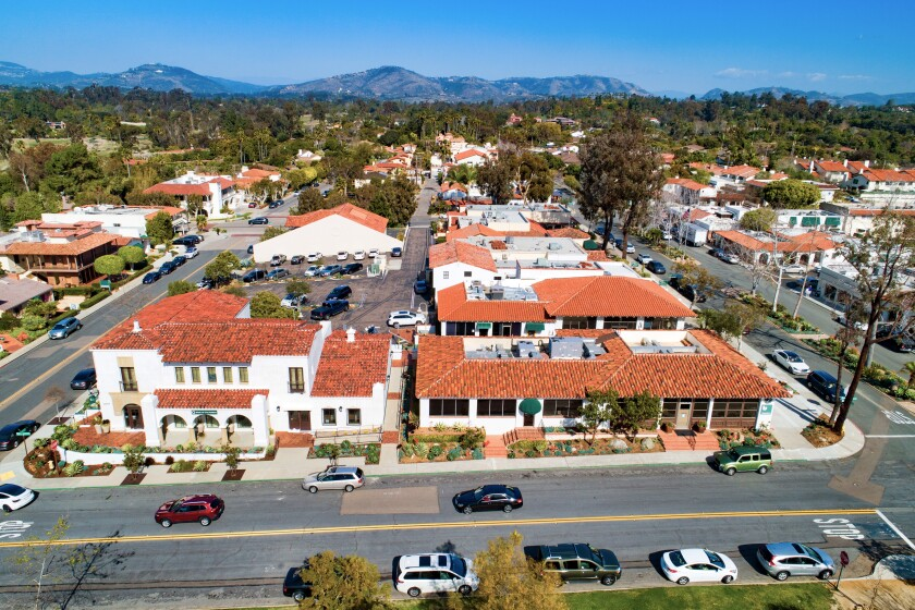 Plaza de Acacias in the Rancho Santa Fe village is up for sale.