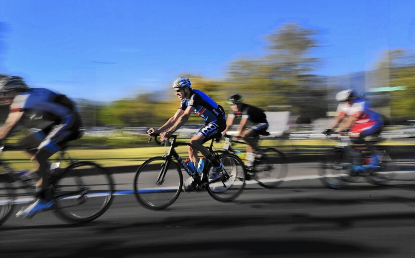 Bicyclists flock to be Rose Bowl Riders, making a 30-mile ride around the Rose Bowl in Pasadena.