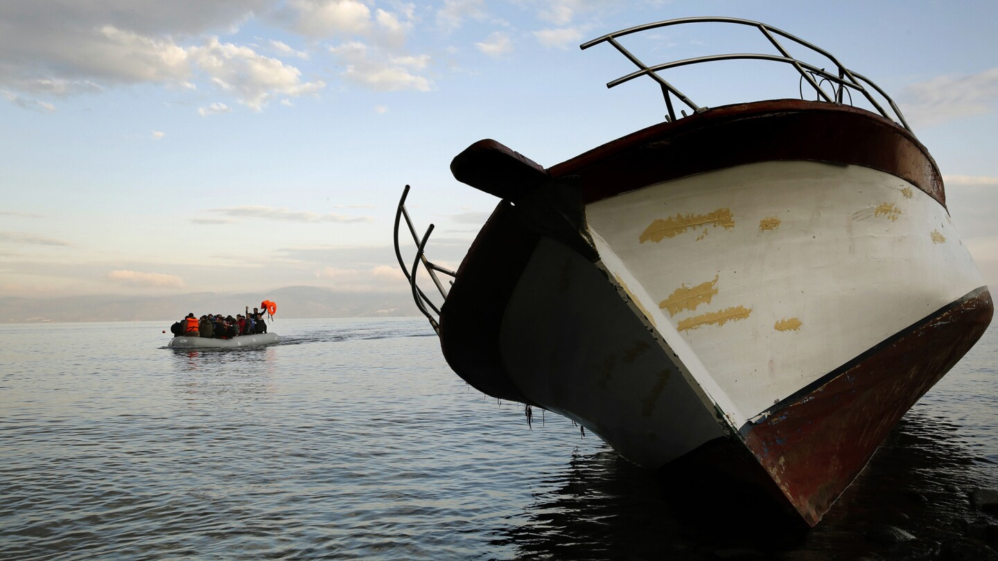 Migrant crisis in Lesbos, Greece