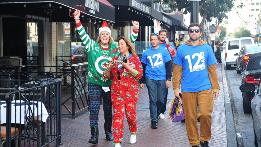 San Diegans drank for good causes at the 12 Bars of Charity on Saturday, Dec. 16, 2017.