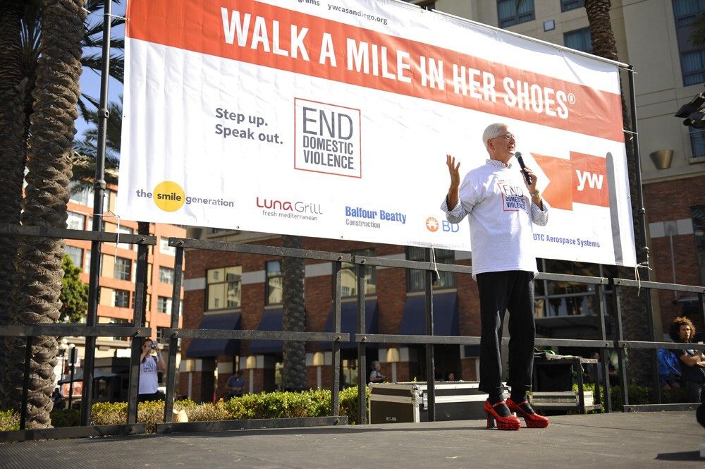 San Diegans walked to stop racism, end domestic violence and empower women at Walk a Mile in Her Shoes at MLK Promenade Park on Saturday, Oct. 14, 2017.