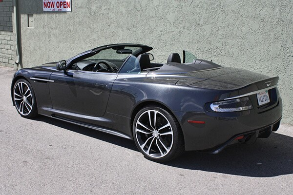 The DBS Carbon gets 510 horsepower and 420 pound-feet of torque from a 6.0-liter, naturally-aspirated V-12 engine. Power is routed to the rear wheels through a carbon fiber propeller shaft via a six-speed automatic transmission with carbon-fiber-tipped magnesium shift paddles. A six-speed manual transmission is also available.