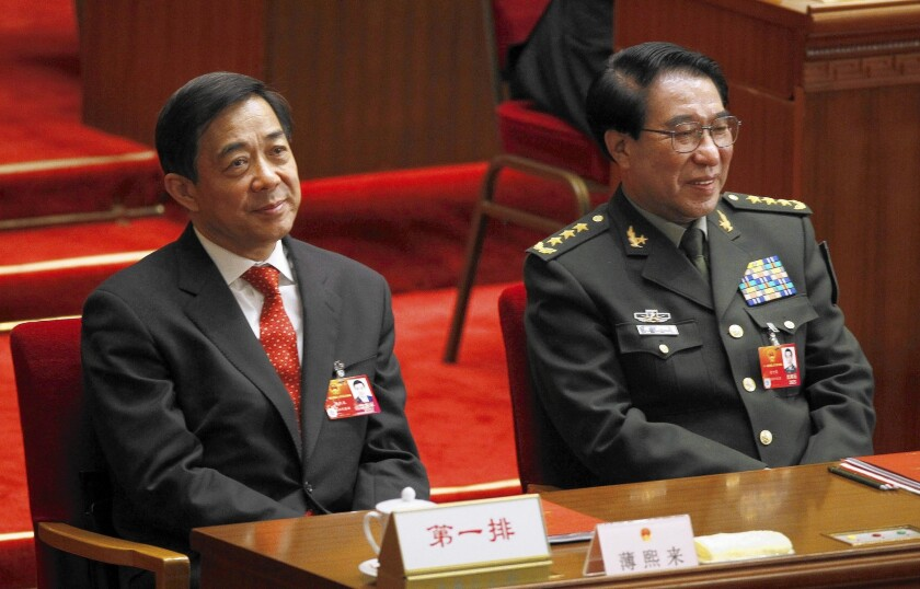 Chinese officials Bo Xilai and Xu Caihou