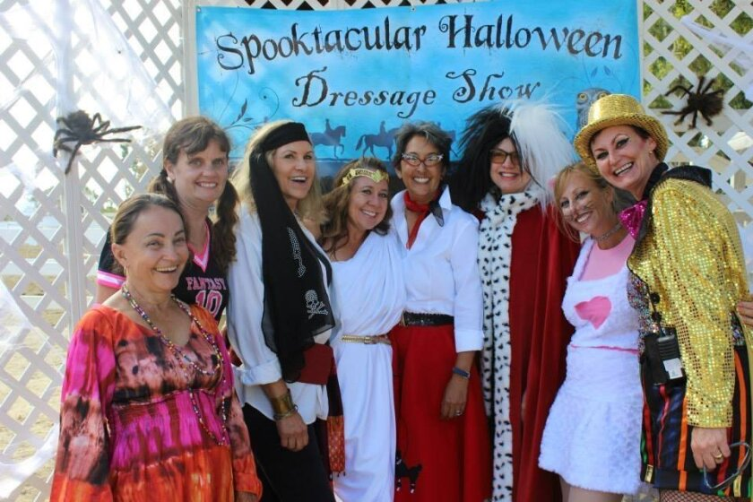 """The Spooktacular Halloween Dressage Show will be held Oct. 31 and Nov. 1 at the Del Mar Horsepark. """"My goal with the whole show is to see as many smiles and as many giggles as possible,"""" says Lisa Blaufuss, founder. Courtesy photos"""
