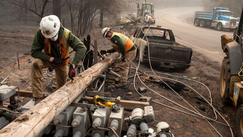 PG&E knew for years that repairs were needed on transmission lines in area of fatal Camp fire