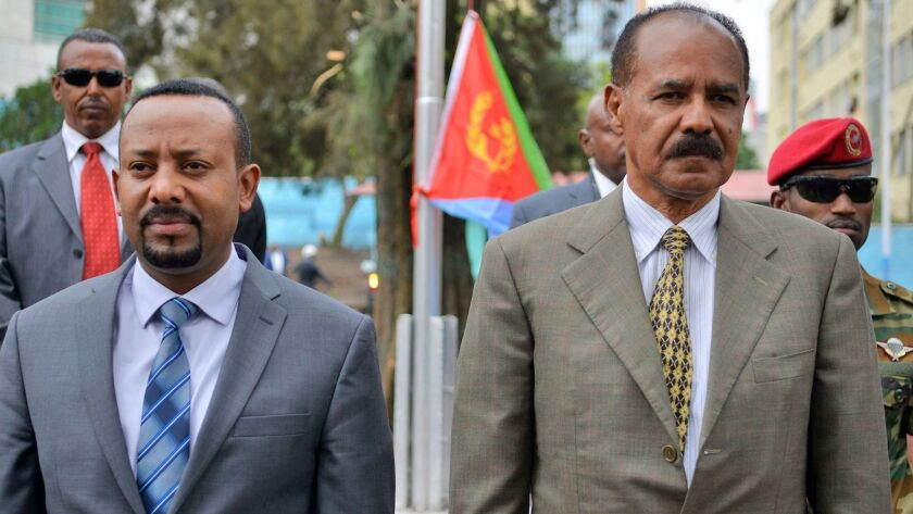 Re-opening of the Eritrean embassy in the Ethiopian capital Addis Ababa, Ethiopia - 16 Jul 2018