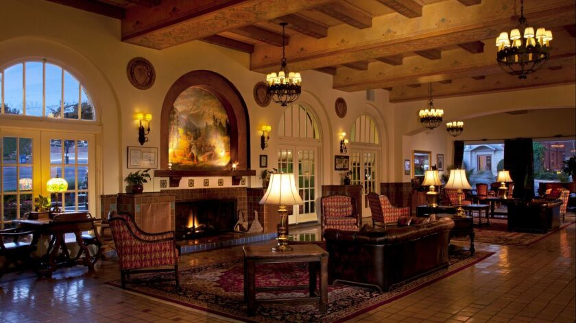 The lobby of the Hassayampa Inn in Prescott, AZ.