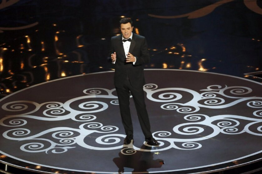 """Seth MacFarlane gets the Oscars started with """"We Saw Your Boobs."""""""