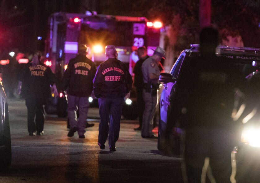 Five Houston police officers were shot Monday afternoon.