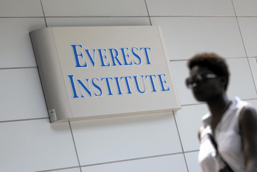 "Corinthian Colleges, which operates campuses under the Everest, Heald and WyoTech brands, is being sued by the U.S. Consumer Financial Protection Bureau for what it calls an ""illegal predatory lending scheme."" Above, Everest Institute in Silver Spring, Md."