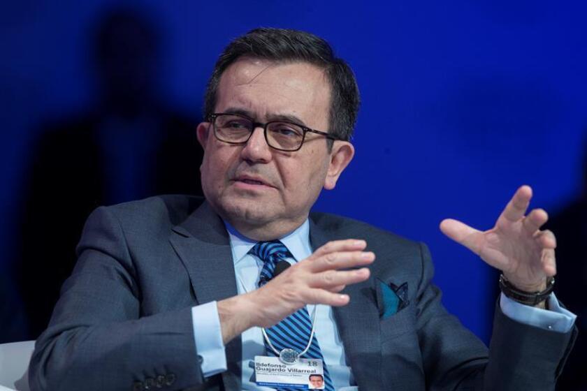 El secretario de Economía de México, Ildefonso Guajardo Villarreal, fue registrado este jueves, durante el Foro Económico para Latinoamérica, en Sao Paulo (Brasil). EFE