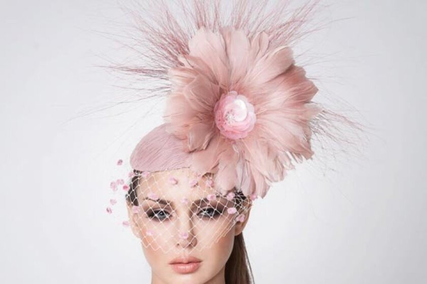Faith Fascinator in blush by Arturo Rios. -- courtesy photo