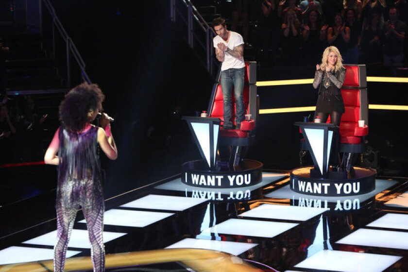 """A scene from """"The Voice."""""""