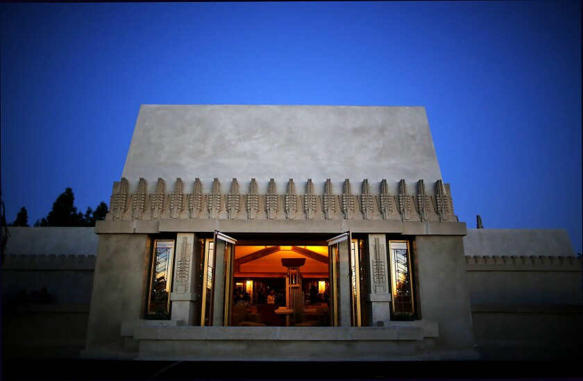 Plaque marks Frank Lloyd Wright's Hollyhock House as L.A.'s first UNESCO World Heritage Site; LA Times