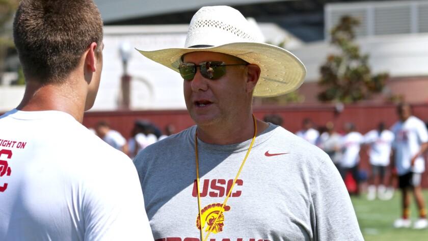USC special teams coordinator John Baxter.