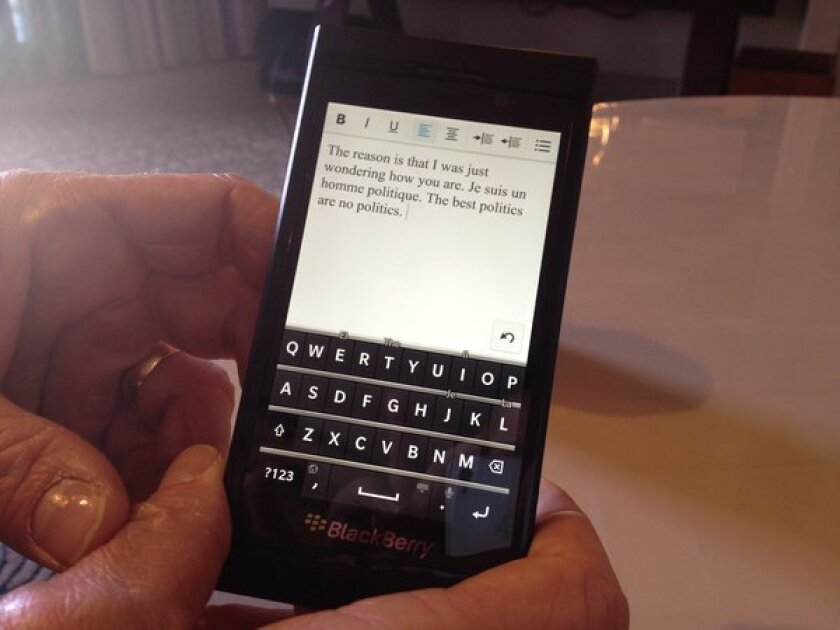 One of two new smartphones running the BlackBerry 10 operating system. The smartphone is full touchscreen and will officially debut at RIM's Jan. 30 launch event.