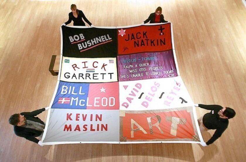 AIDS Memorial Quilt panels