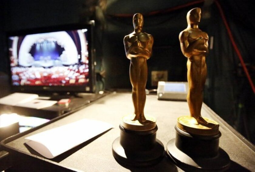 Casting directors now have their own voting branch of the Academy of Motion Picture Arts and Sciences. Here, stand-in fake Oscar statuettes are ready backstage during rehearsals in the Dolby Theatre at the Hollywood and Highland Center as preparations are in full swing for the Oscar live telecast of the 85th Academy Awards.