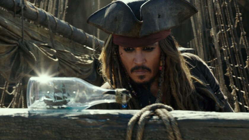 """Johnny Depp in the movie """"Pirates of the Caribbean: Dead Men Tell No Tales."""""""