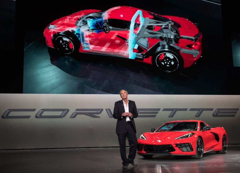 2020 Chevrolet Corvette Stingray Debut A Moon Shot The San Diego