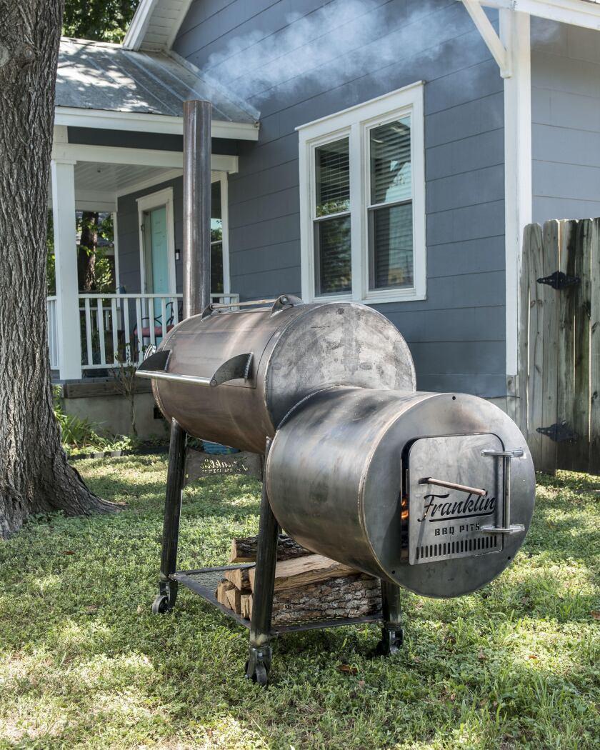 Franklin Barbecue smoker
