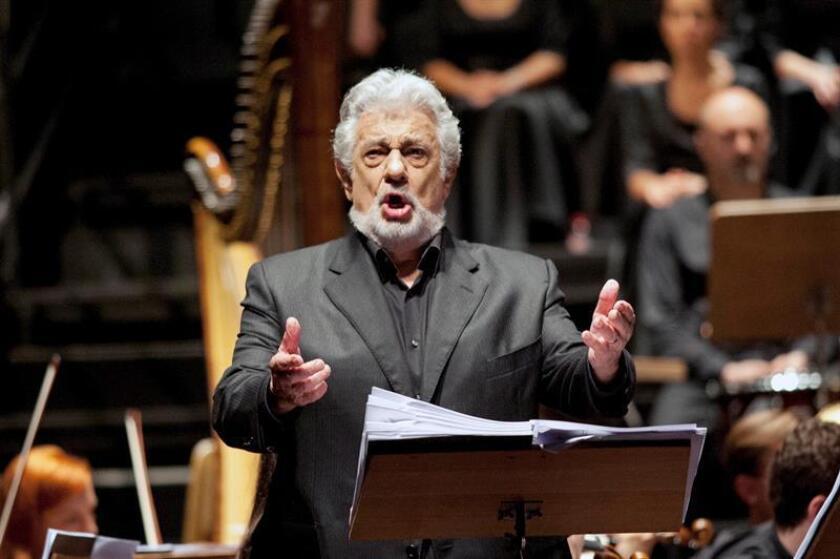 El tenor Plácido Domingo durante una actuación. EFE/Archivo