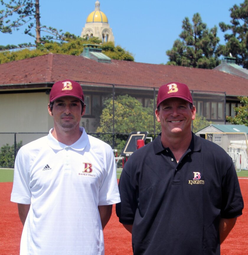 The Bishop's School new coaches are Nick Levine, varsity boys basketball coach; and Ron Witmeyer, varsity baseball coach.