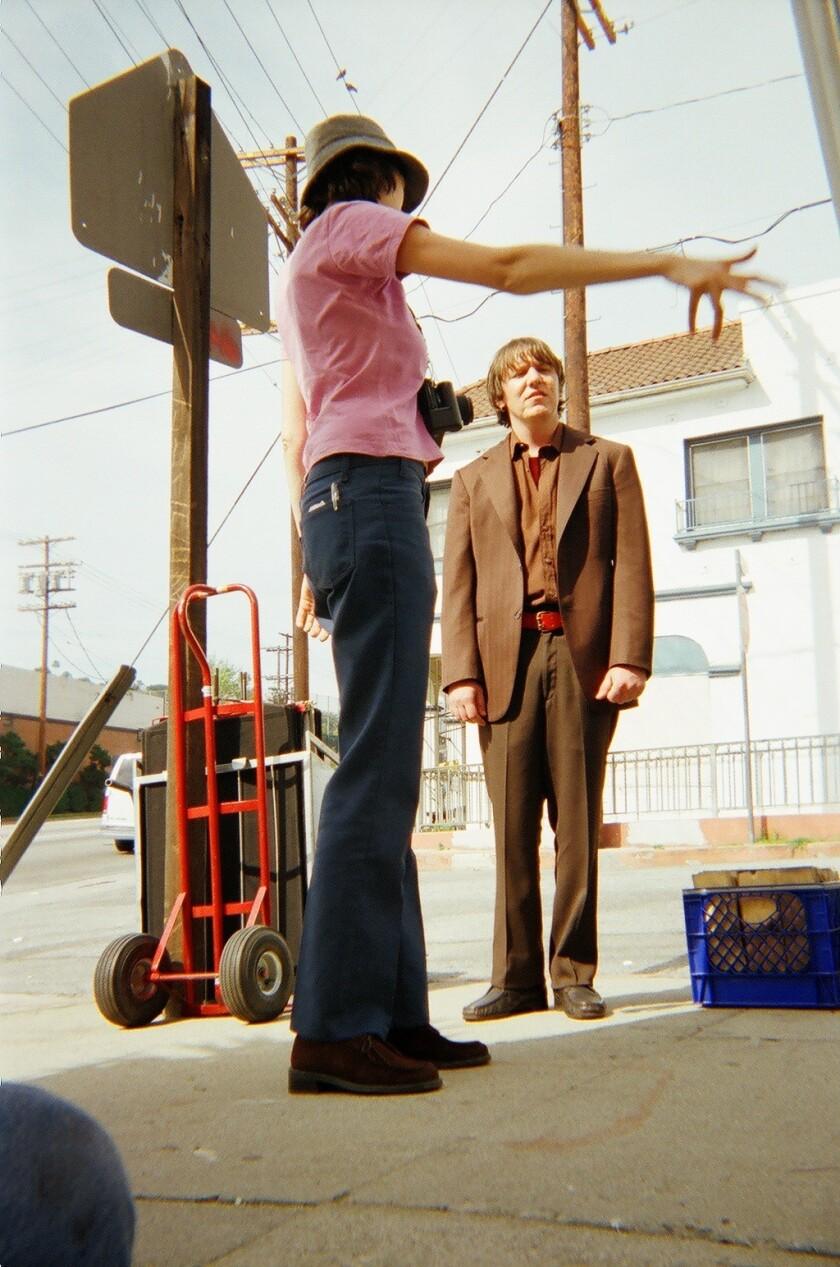 De Wilde réalisant Elliott Smith dans le clip