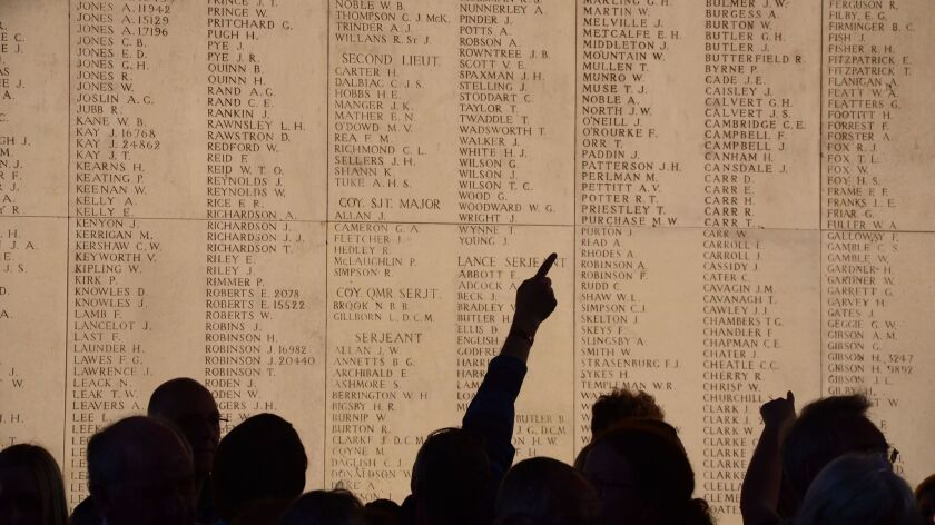 Ypres, Belgium - The Menin Gate, which honors missing soldiers from the British Commonwealth's World