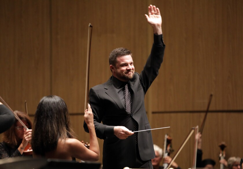 Michael Christie, a former Los Angeles Philharmonic assistant conductor, begins his tenure as music director of the New West Symphony in Thousand Oaks.