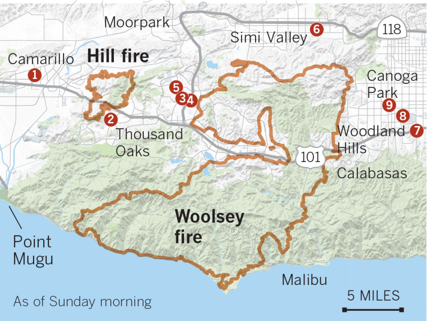Westlake Village Fire Map California fires live updates: Camp fire death toll at 86; 3