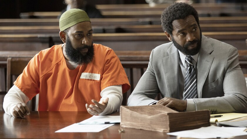 """Felonious Munk, left, and Nicholas Pinnock in a new episode of the drama """"For Life"""" on ABC."""