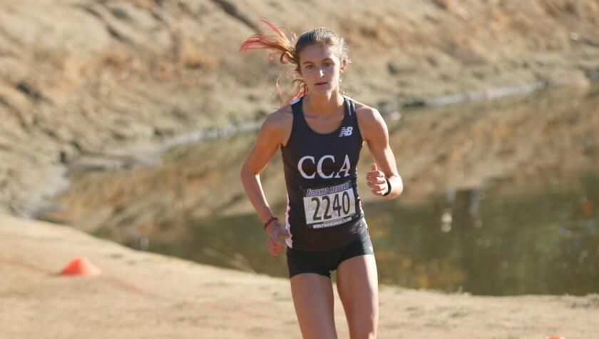 Girls individual champion was Canyon Crest's Carlie Dorostkar.