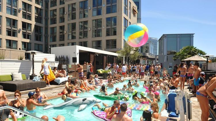 Sunburn Pool Party at Hard Rock Hotel in downtown San Diego.