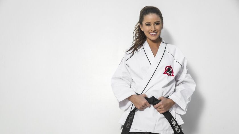 Taekwando black belt Nia Sanchez is teaching self-defense moves to women in Beverly Hills Credit -