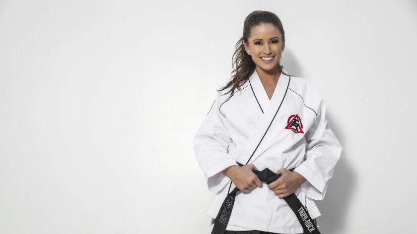 Taekwando black belt Nia Sanchez is teaching self-defense moves to women in Beverly Hills Credit -