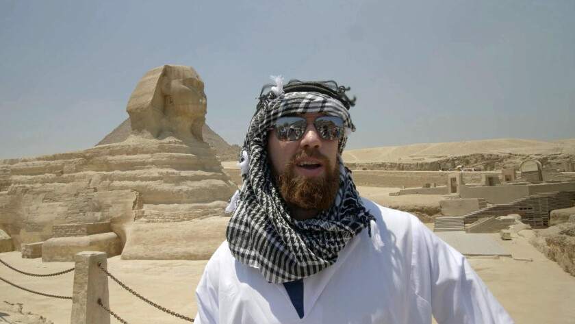 """Brian Kopilec in a scene from """"Free Trip to Egypt."""" Credit: Maged Nader"""
