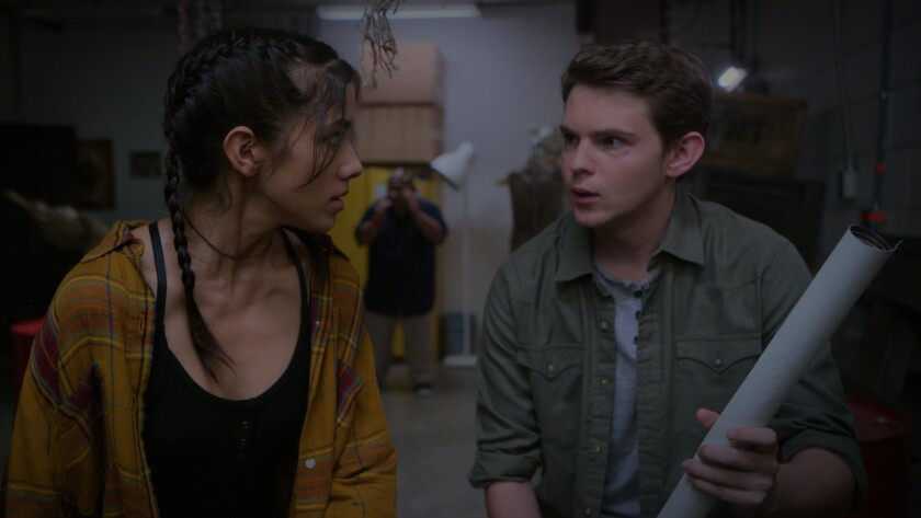 """From L to R: Seychelle Gabriel as Sam and Robbie Kay as Dax in the film """"Blood Fest,"""" Credit: Cinedi"""