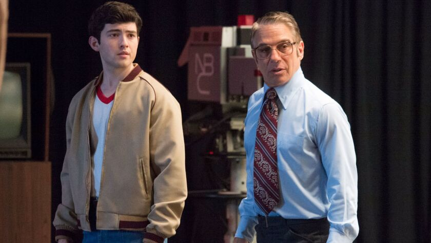 """Ian Nelson, left, and Tony Danza in a scene from """"There's...Johnny!"""""""