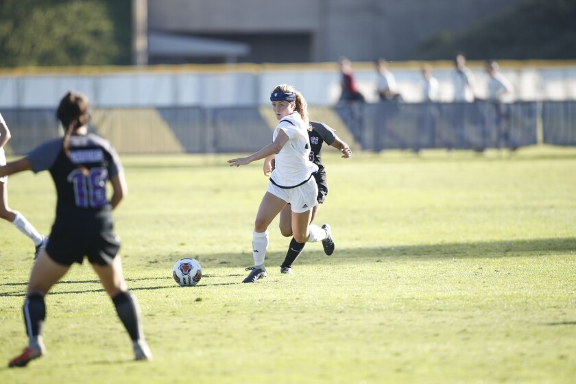 Great Oak High School graduate Emily Killeen plays soccer on the UC San Diego team.
