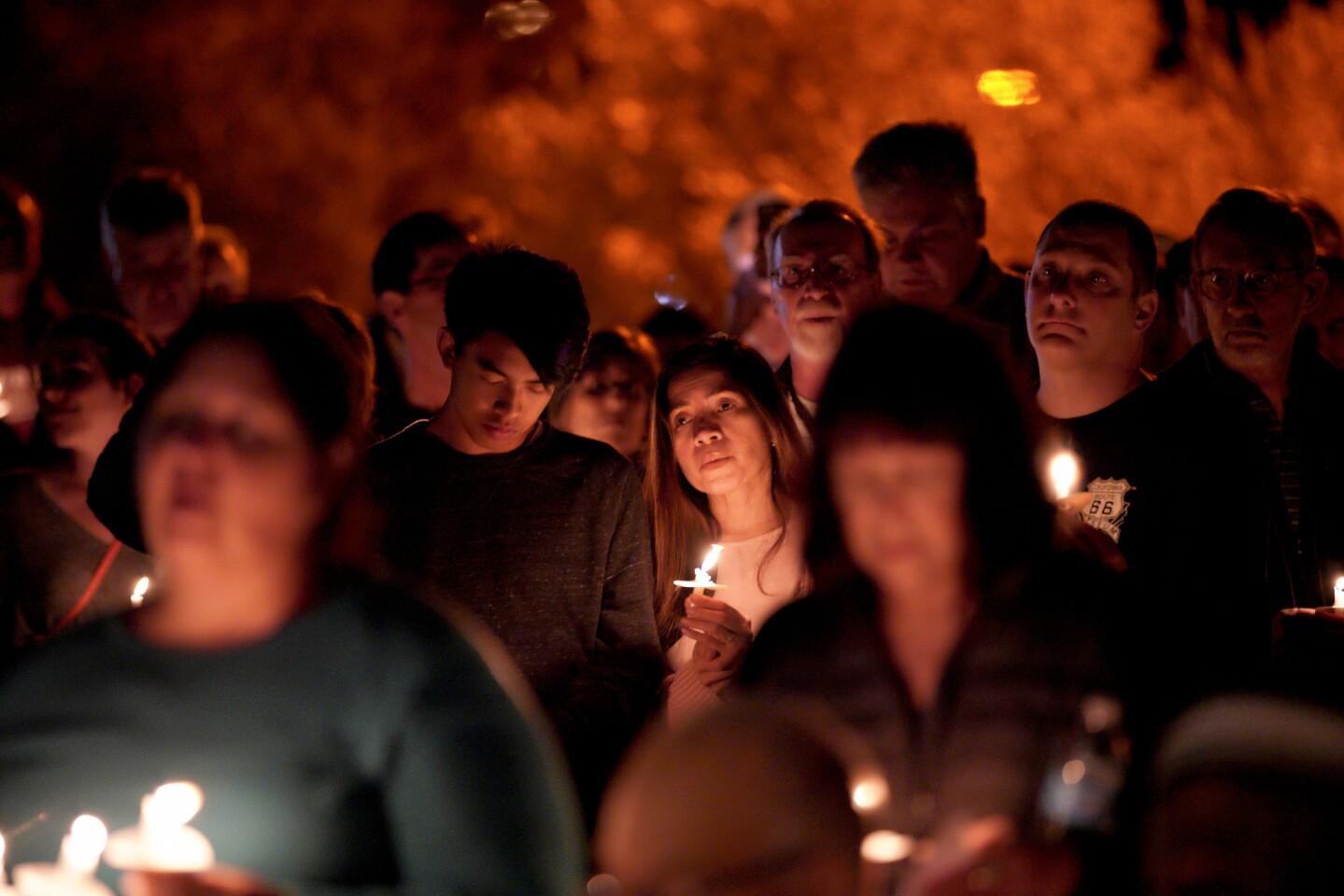 Candlelight vigil at Temple Adat Shalom