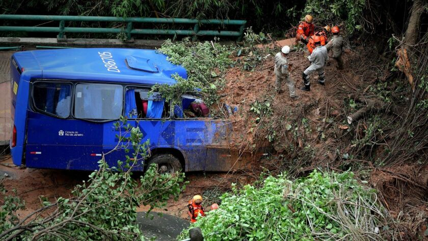 Three dead and two missing after strong storm in Rio de Janeiro, Brazil - 07 Feb 2019