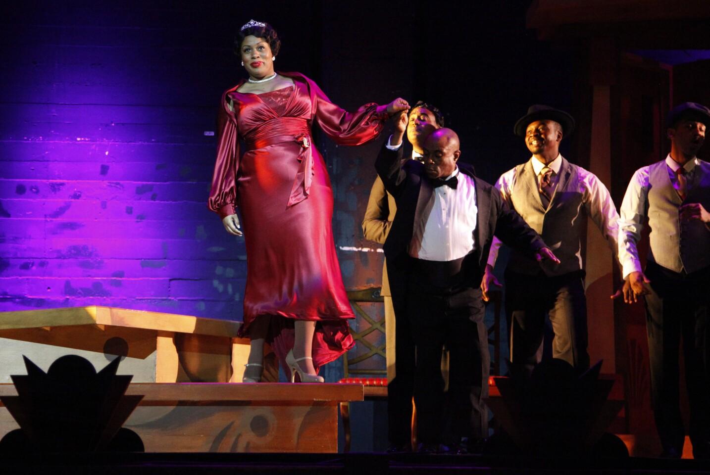 "Karen Marie Richardson has the title role in Long Beach Opera's ""Queenie Pie,"" an opera on which Duke Ellington was working when he died in 1974."