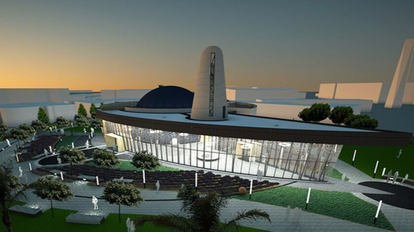 The new $20-million planetarium at Orange Coast College, shown in this rendering, is expected to ope