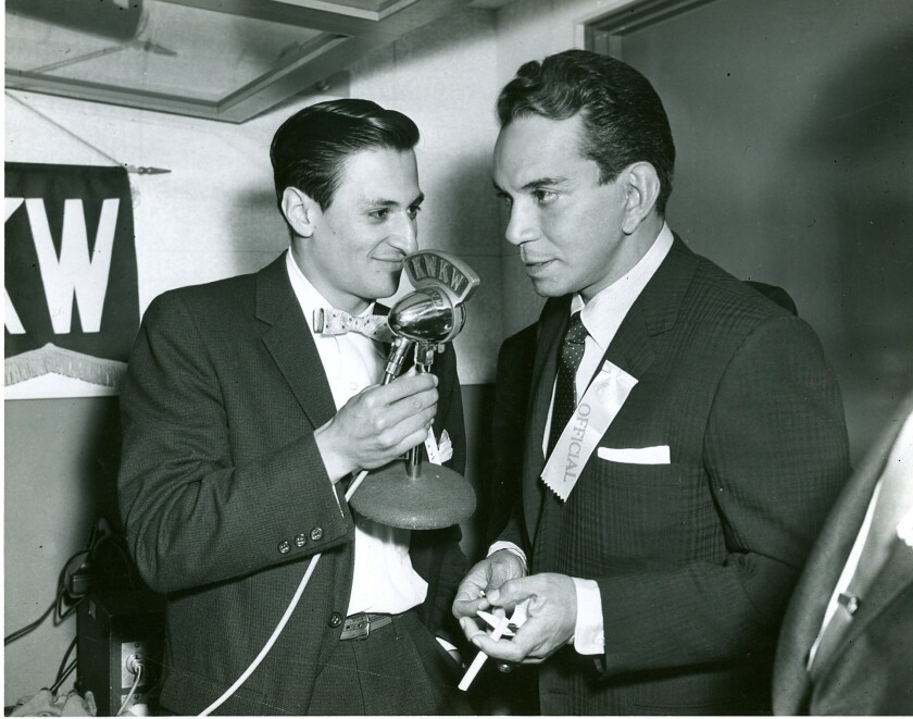 Cantinflas y Jaime Jarrín.
