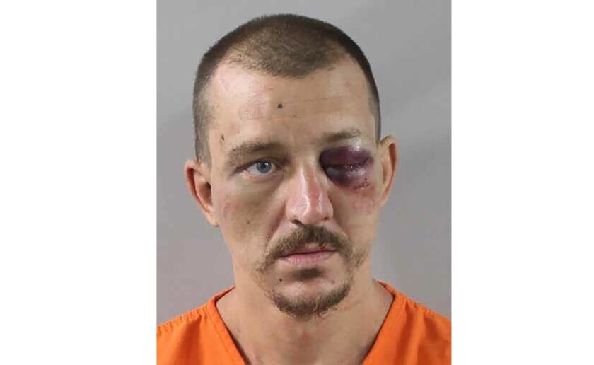 This image provided by the Polk County Sheriff's Office shows Jason Robinson, a Florida man charged with first-degree murder in the death of his girlfriend after he confessed to his mother and she called police, sheriff's officials said Monday, Sept. 27, 2021. (Polk County Sheriff's Office via AP)