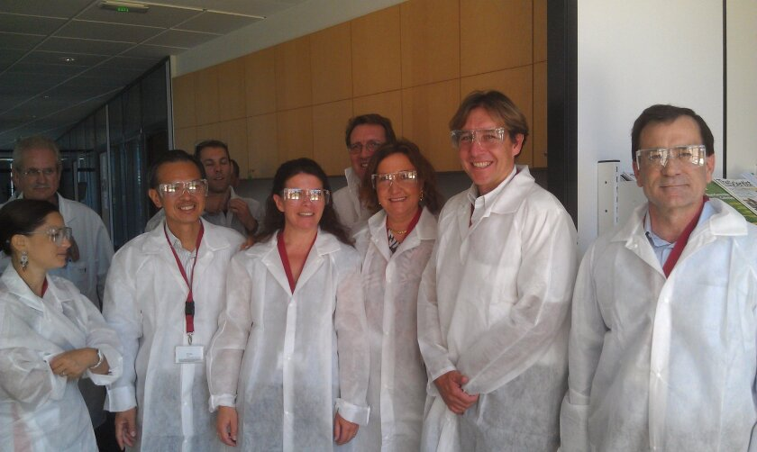 The Biocom/French BioBeach group from San Diego touring Genbiotech.