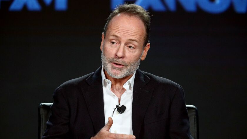 John Landgraf, CEO of FX Networks and FX Productions, addresses the audience during the Fox/FX portion of the 2018 Winter Television Critics Assn. Press Tour in Pasadena.