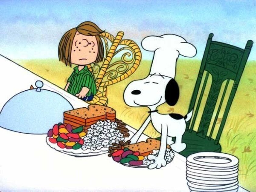 """The Peanuts gang celebrates the holiday in the animated special """"A Charlie Brown Thanksgiving,"""" on ABC."""